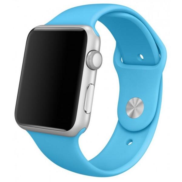 Силиконовый ремешок Apple Watch 38/40 мм голубой