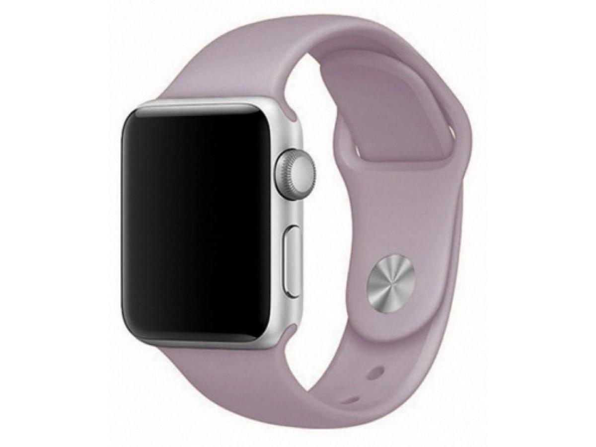 Силиконовый ремешок Apple Watch 42/44мм лавандовый в Тюмени