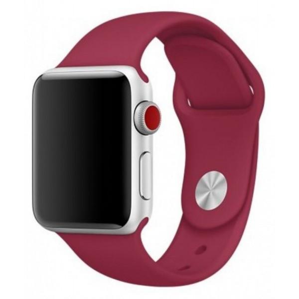 Силиконовый ремешок Apple Watch 38/40мм малиновый