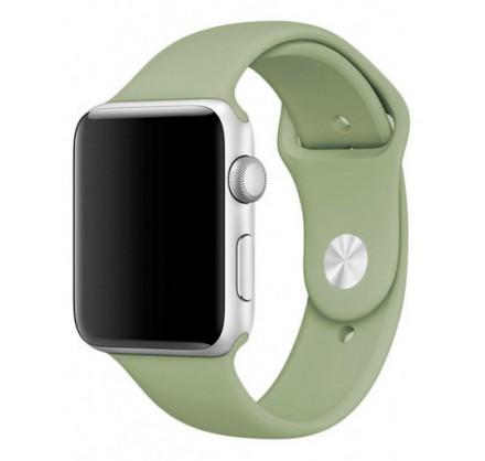 Силиконовый ремешок Apple Watch 42/44мм мятно-зеленый