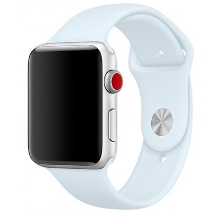 Силиконовый ремешок Apple Watch 42/44мм небесно-голубой