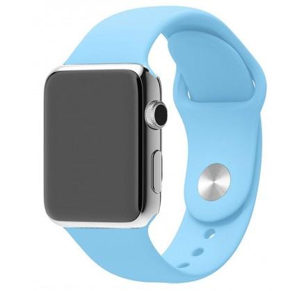 Силиконовый ремешок Apple Watch 38/40мм синее море