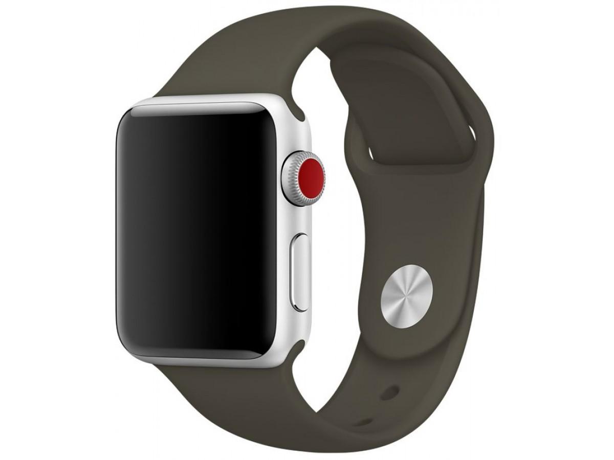 Силиконовый ремешок Apple Watch 42/44мм оливковый в Тюмени