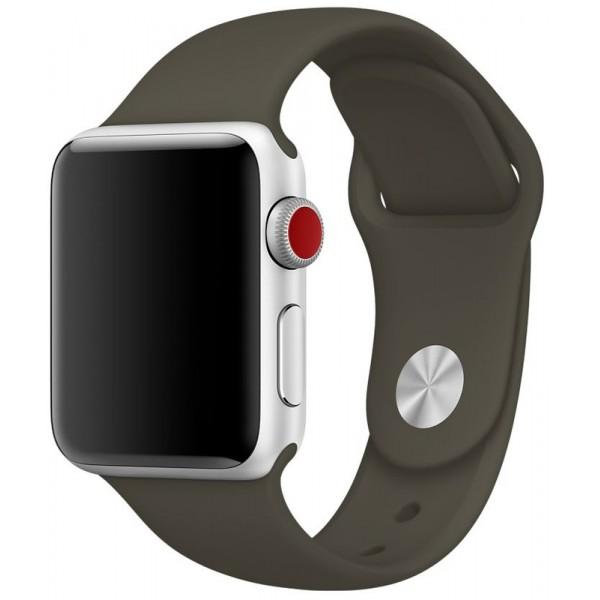 Силиконовый ремешок Apple Watch 42/44мм оливковый