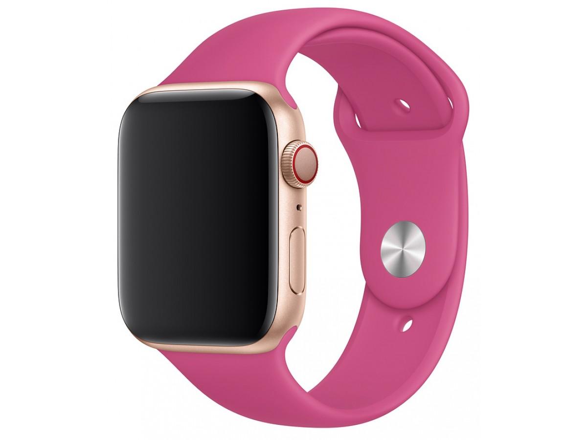 Силиконовый ремешок Apple Watch 42/44мм питайя в Тюмени