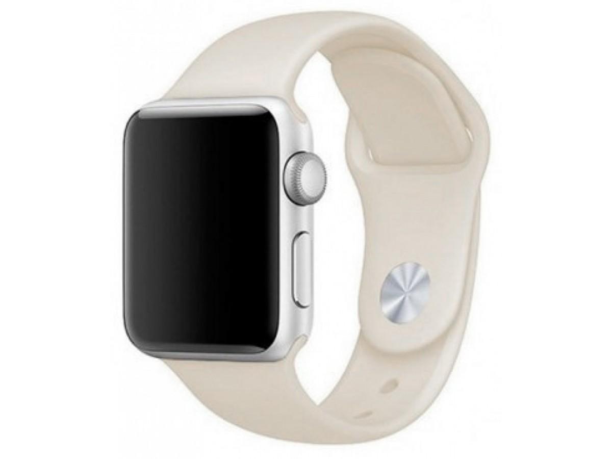 Силиконовый ремешок Apple Watch 38/40мм светло-бежевый  в Тюмени
