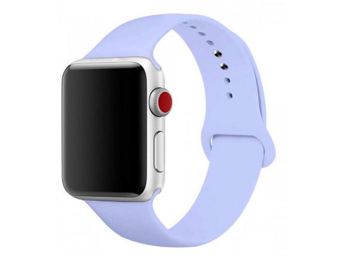Силиконовый ремешок Apple Watch 38/40мм светло-голубой  в Тюмени