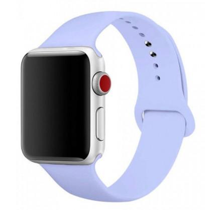 Силиконовый ремешок Apple Watch 38/40мм Светло-голубой