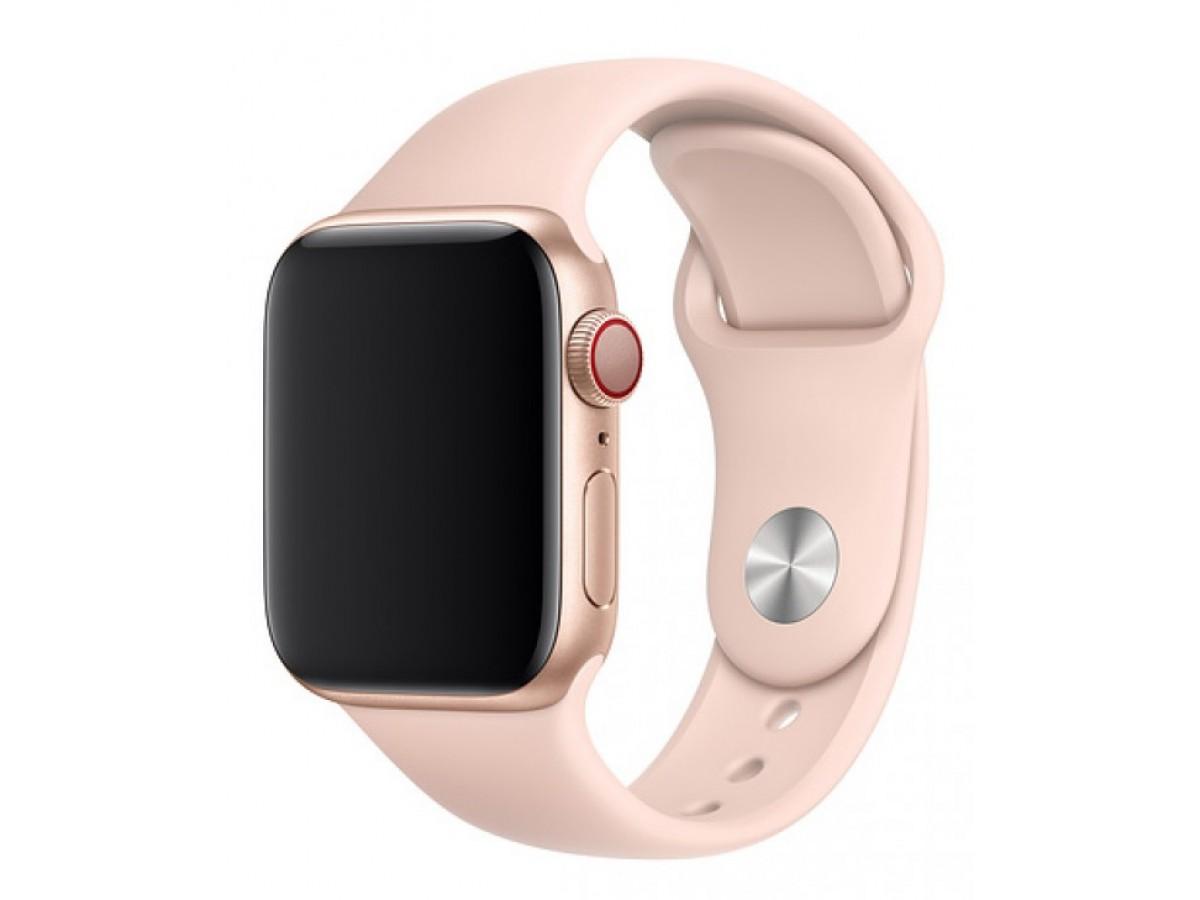 Силиконовый ремешок Apple Watch 42/44мм светло-розовый в Тюмени