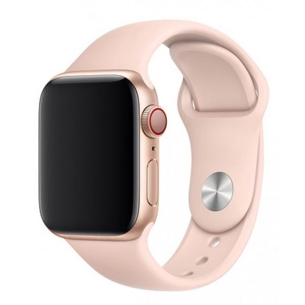 Силиконовый ремешок Apple Watch 42/44мм светло-розовый