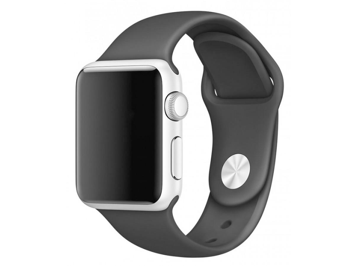 Силиконовый ремешок Apple Watch 42/44мм темно-серый в Тюмени