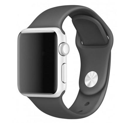 Силиконовый ремешок Apple Watch 42/44мм Темно-серый