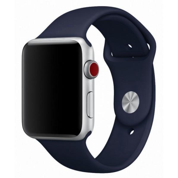 Силиконовый ремешок Apple Watch 42/44мм темно-синий
