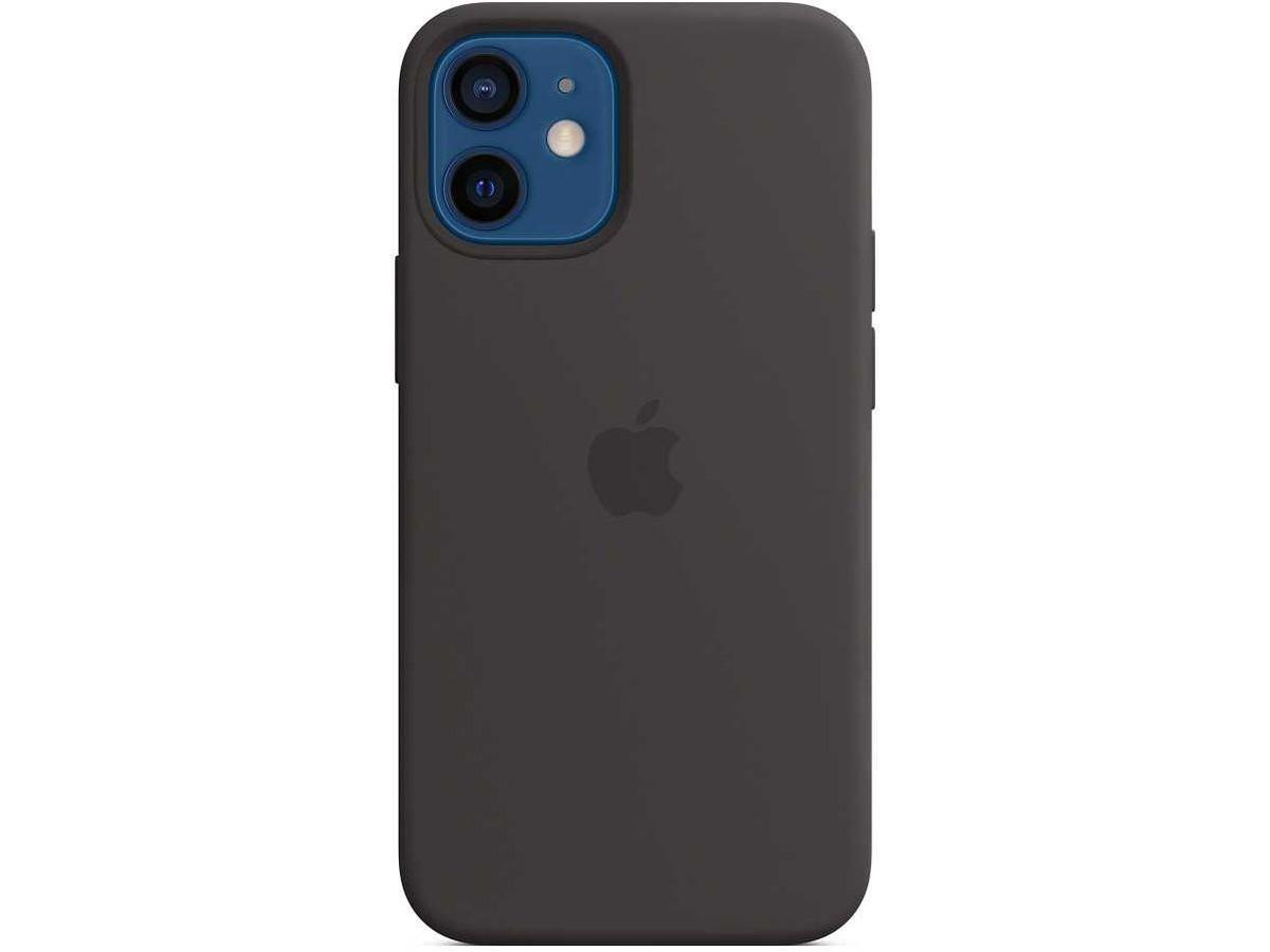 Чехол Silicone Case качество Lux для iPhone 12 mini черный в Тюмени