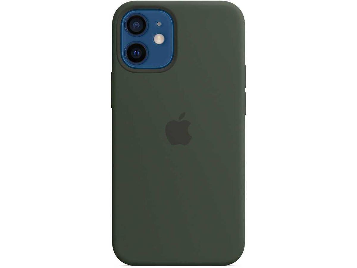 Чехол Silicone Case качество Lux для iPhone 12 mini темно-зеленый в Тюмени