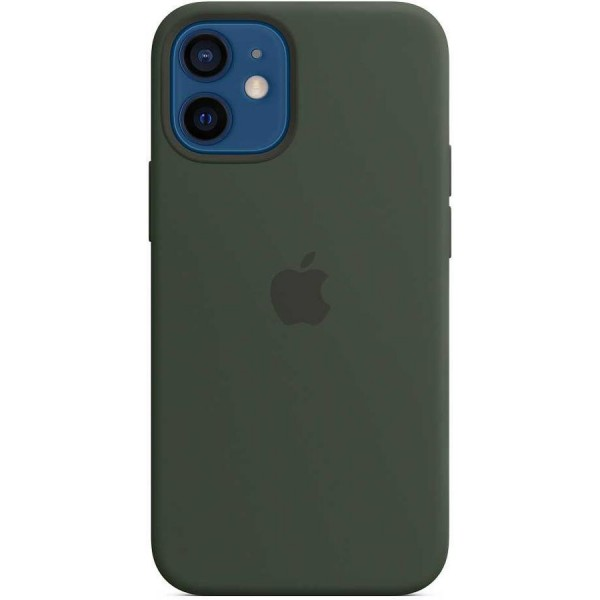 Чехол Silicone Case качество Lux для iPhone 12 mini темно-зеленый