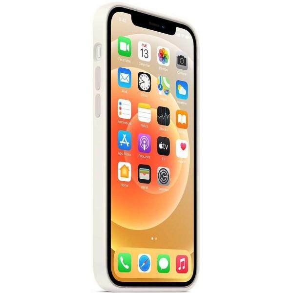 Чехол Silicone Case качество Lux для iPhone 12/12 Pro белый