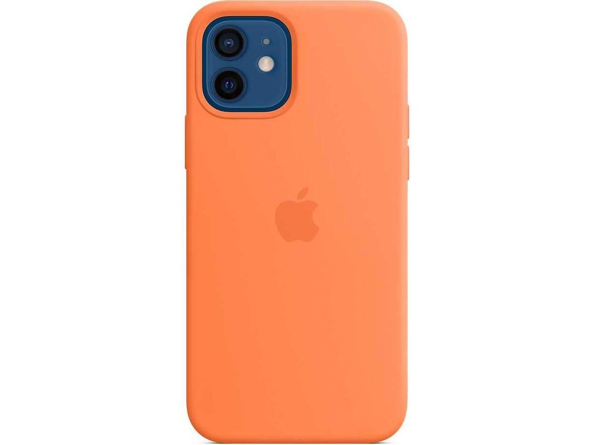 Чехол Silicone Case качество Lux для iPhone 12/12 Pro оранжевый в Тюмени