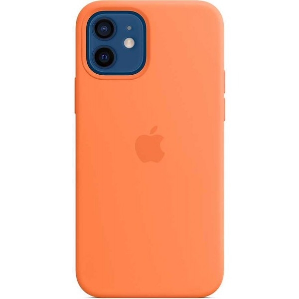 Чехол Silicone Case качество Lux для iPhone 12/12 Pro оранжевый