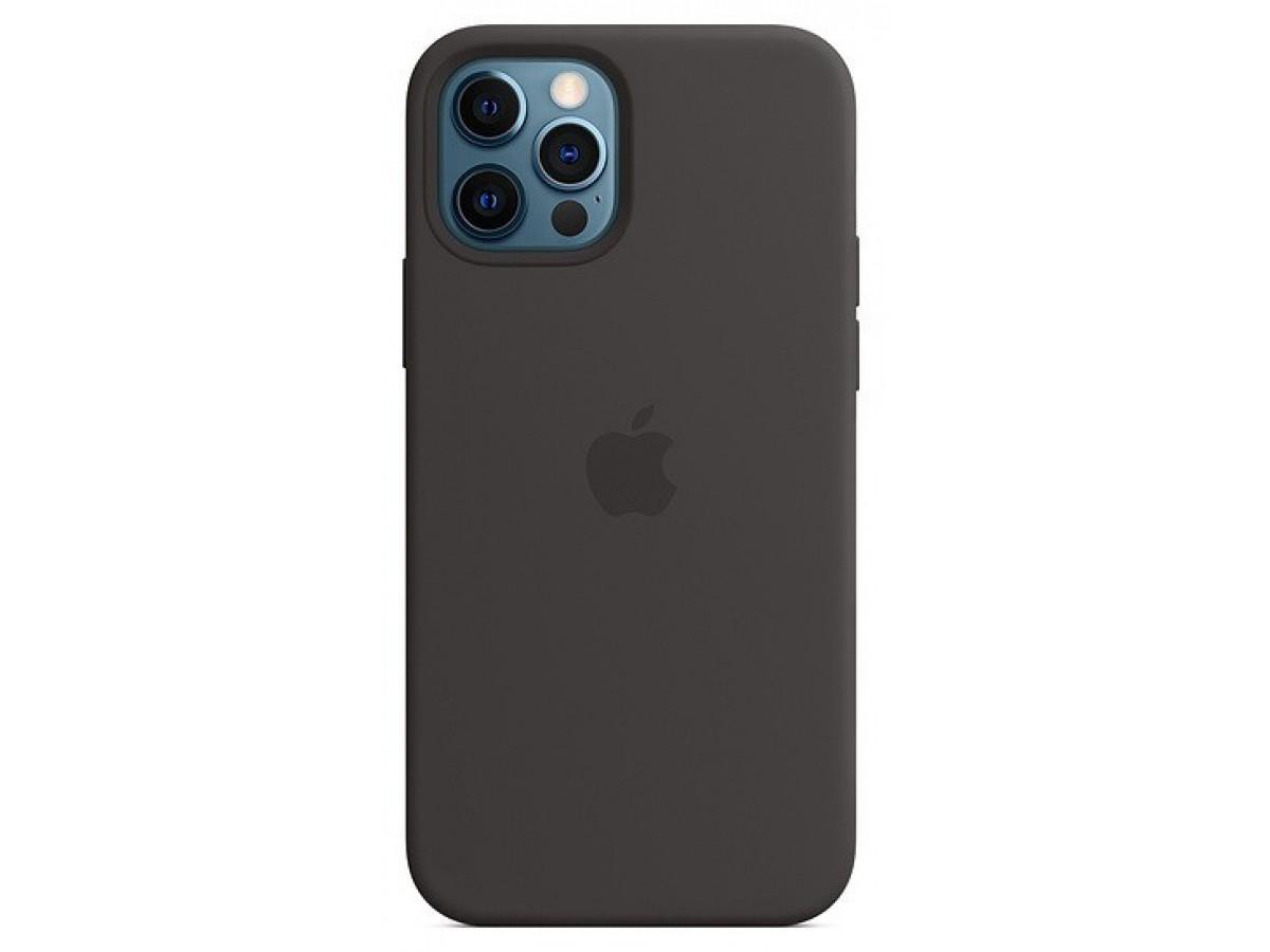 Чехол Silicone Case качество Lux для iPhone 12 Pro Max черный в Тюмени