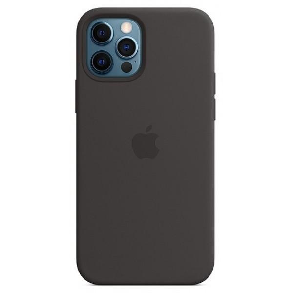 Чехол Silicone Case качество Lux для iPhone 12 Pro Max черный