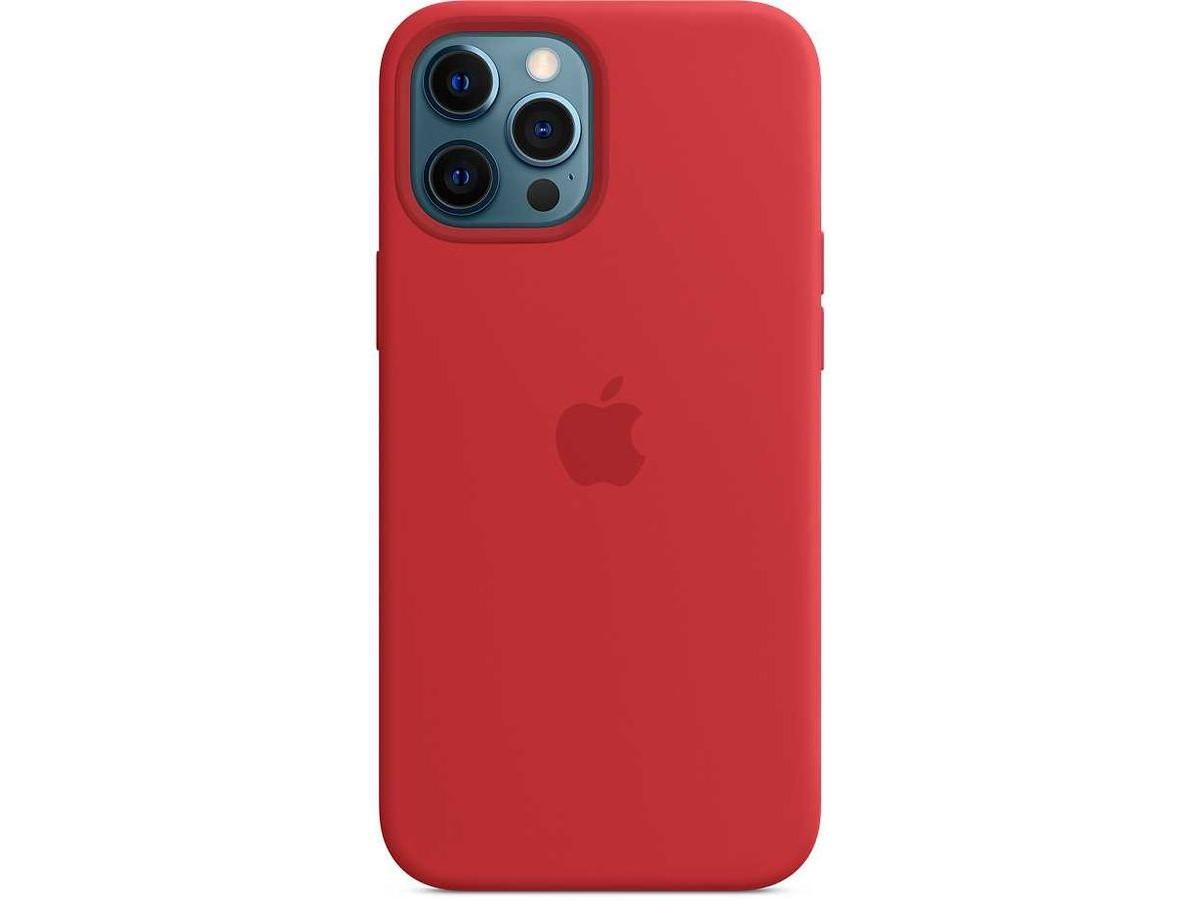 Чехол Silicone Case качество Lux для iPhone 12 Pro Max красный в Тюмени