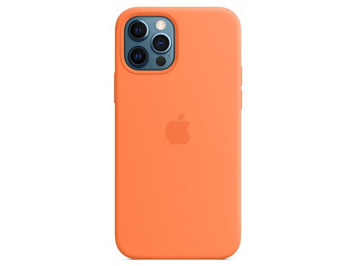 Чехол Silicone Case качество Lux для iPhone 12 Pro Max оранжевый в Тюмени