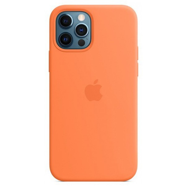 Чехол Silicone Case качество Lux для iPhone 12 Pro Max оранжевый
