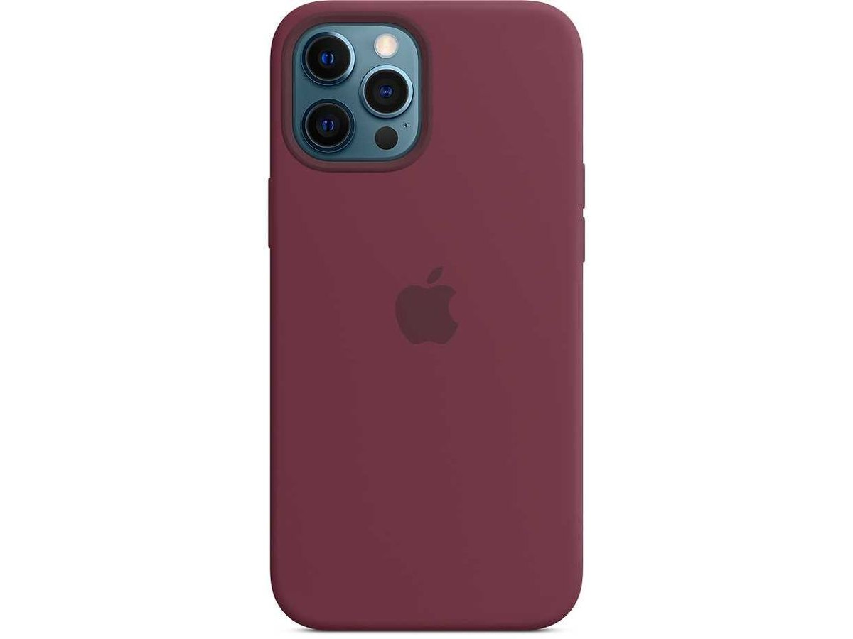 Чехол Silicone Case качество Lux для iPhone 12 Pro Max сливовый в Тюмени