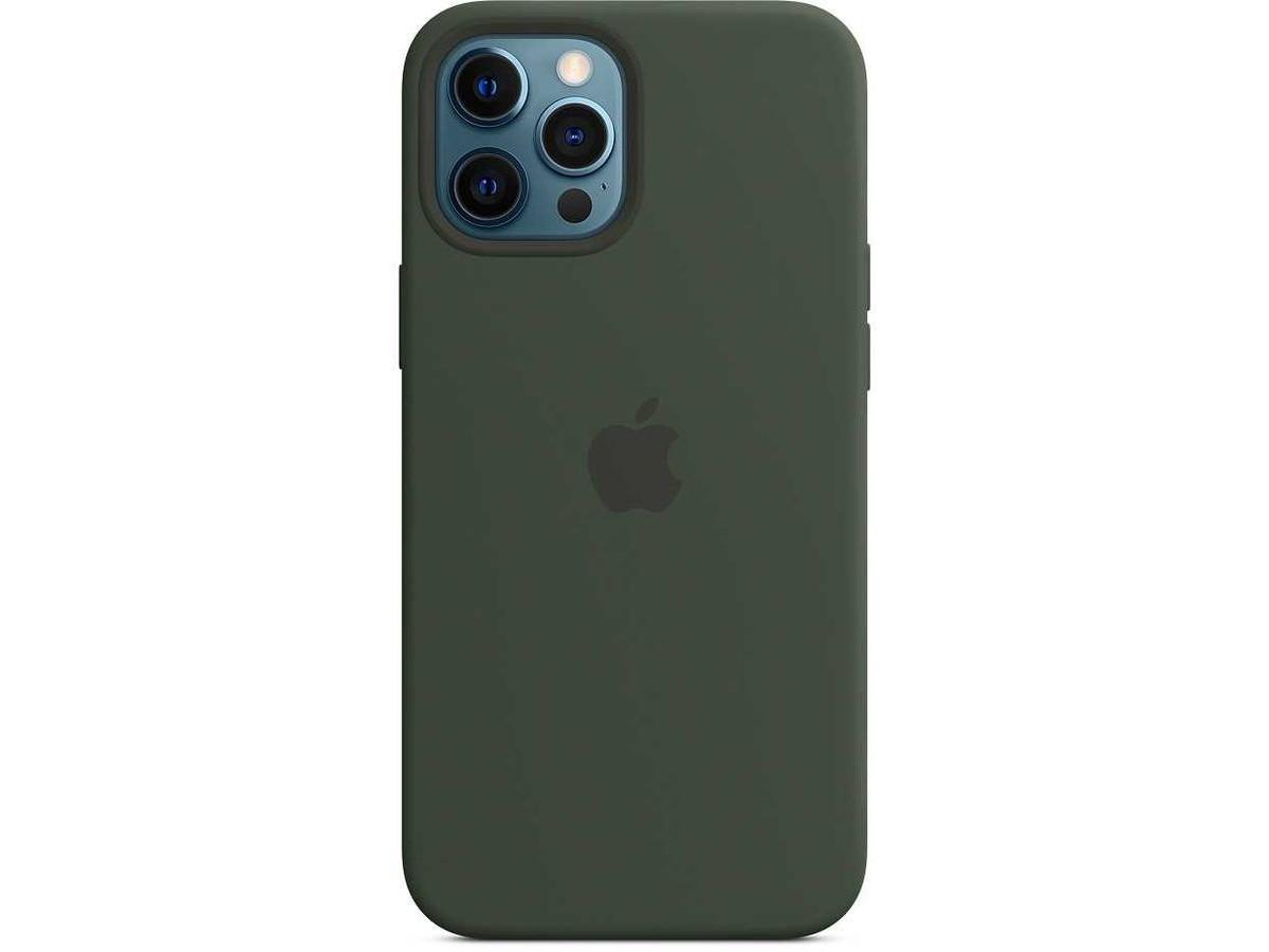 Чехол Silicone Case качество Lux для iPhone 12 Pro Max темно-зеленый в Тюмени