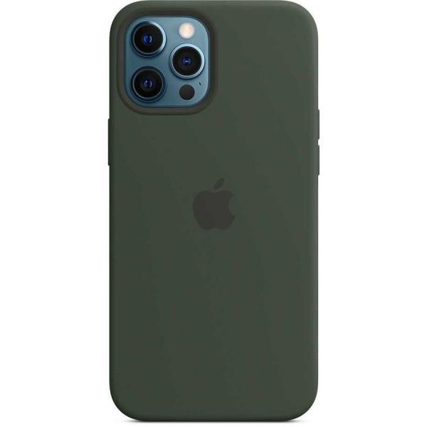 Чехол Silicone Case качество Lux для iPhone 12 Pro Max темно-зеленый