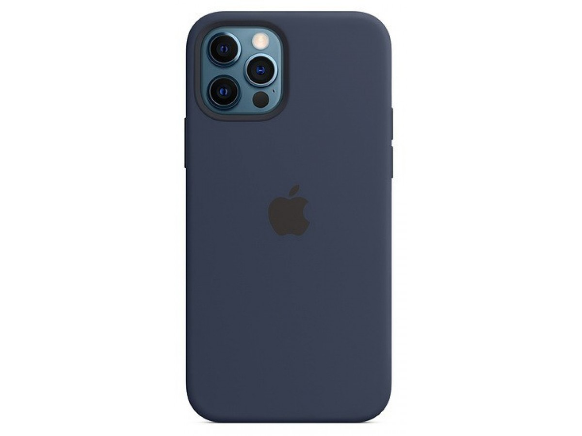 Чехол Silicone Case качество Lux для iPhone 12 Pro Max темно-синий в Тюмени