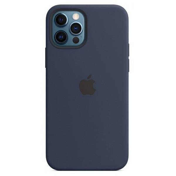 Чехол Silicone Case качество Lux для iPhone 12 Pro Max темно-синий