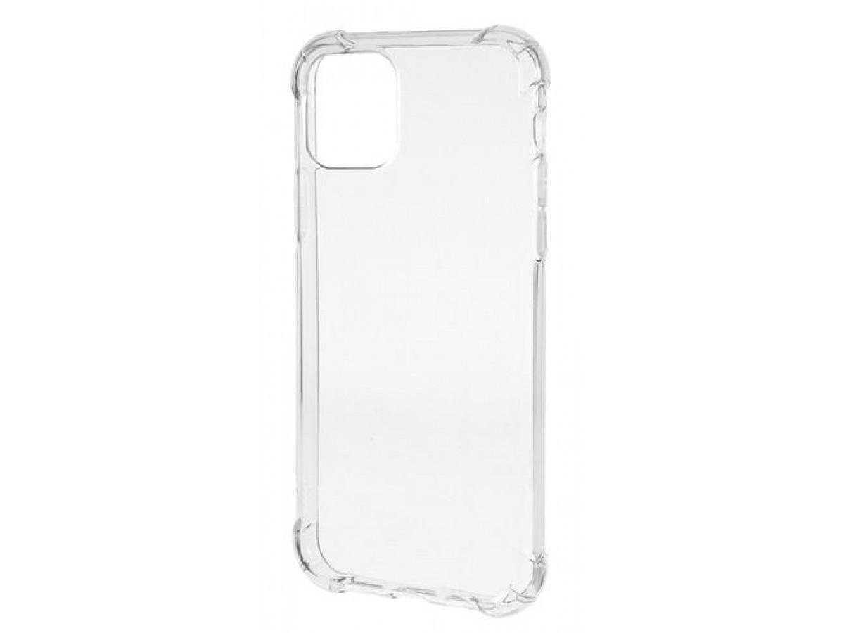 Чехол противоударный с бортиками для iPhone 11 Pro Max силиконовый прозрачный в Тюмени