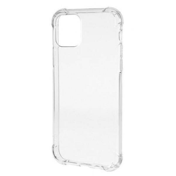 Чехол противоударный с бортиками для iPhone 11 Pro Max силиконовый прозрачный