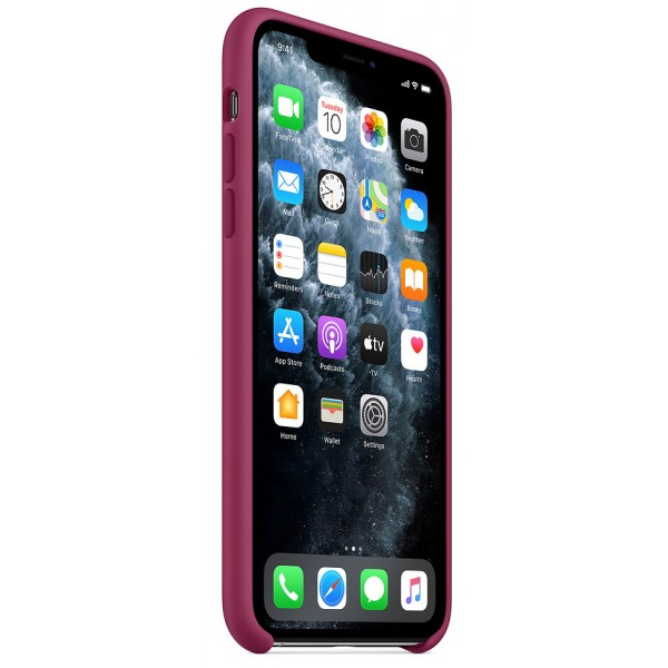 Чехол Silicone Case iPhone 11 Pro max сочный гранат