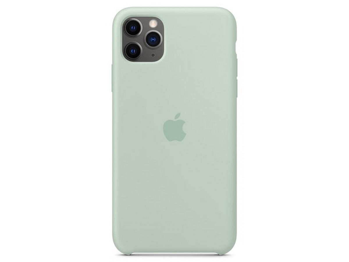 Чехол Silicone Case качество Lux для iPhone 11 Pro max голубой берилл в Тюмени