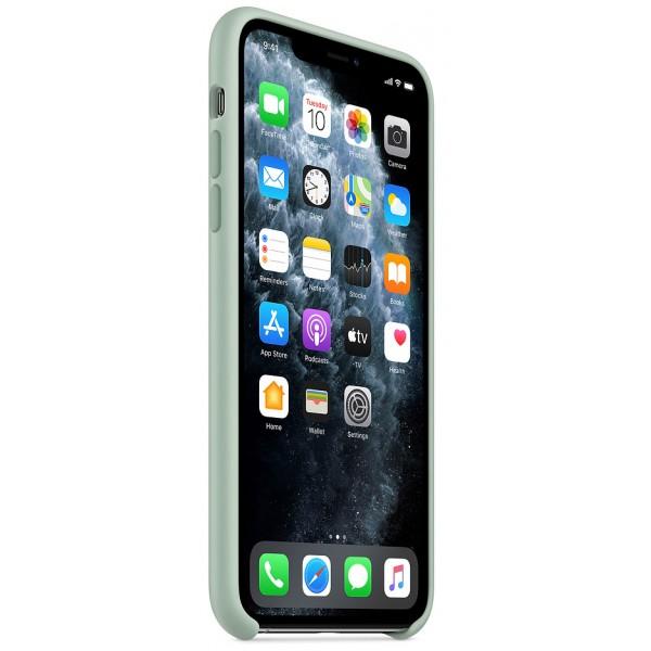 Чехол Silicone Case качество Lux для iPhone 11 Pro max голубой берилл