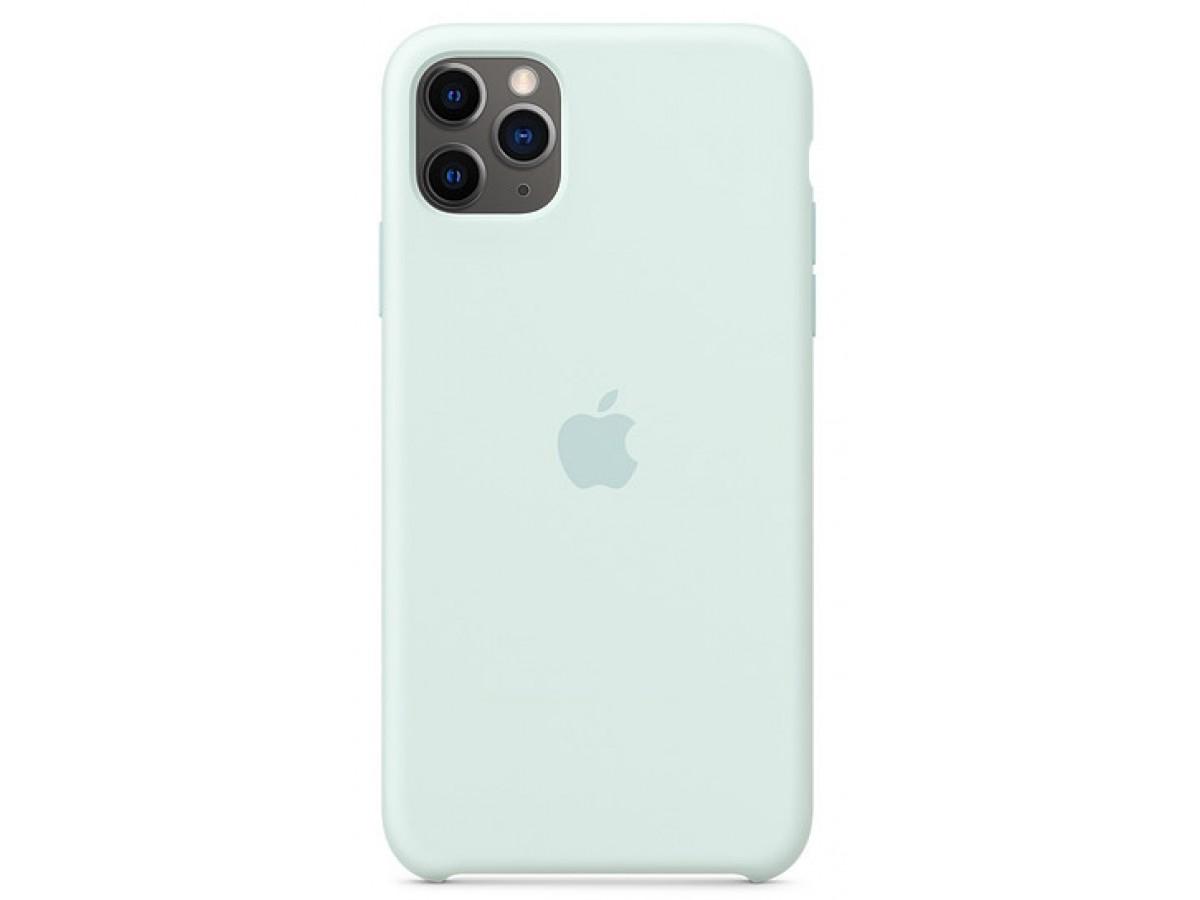 Чехол Silicone Case качество Lux для iPhone 11 Pro max морская пена в Тюмени