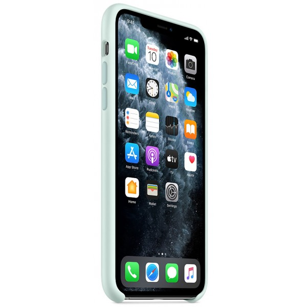 Чехол Silicone Case качество Lux для iPhone 11 Pro max морская пена