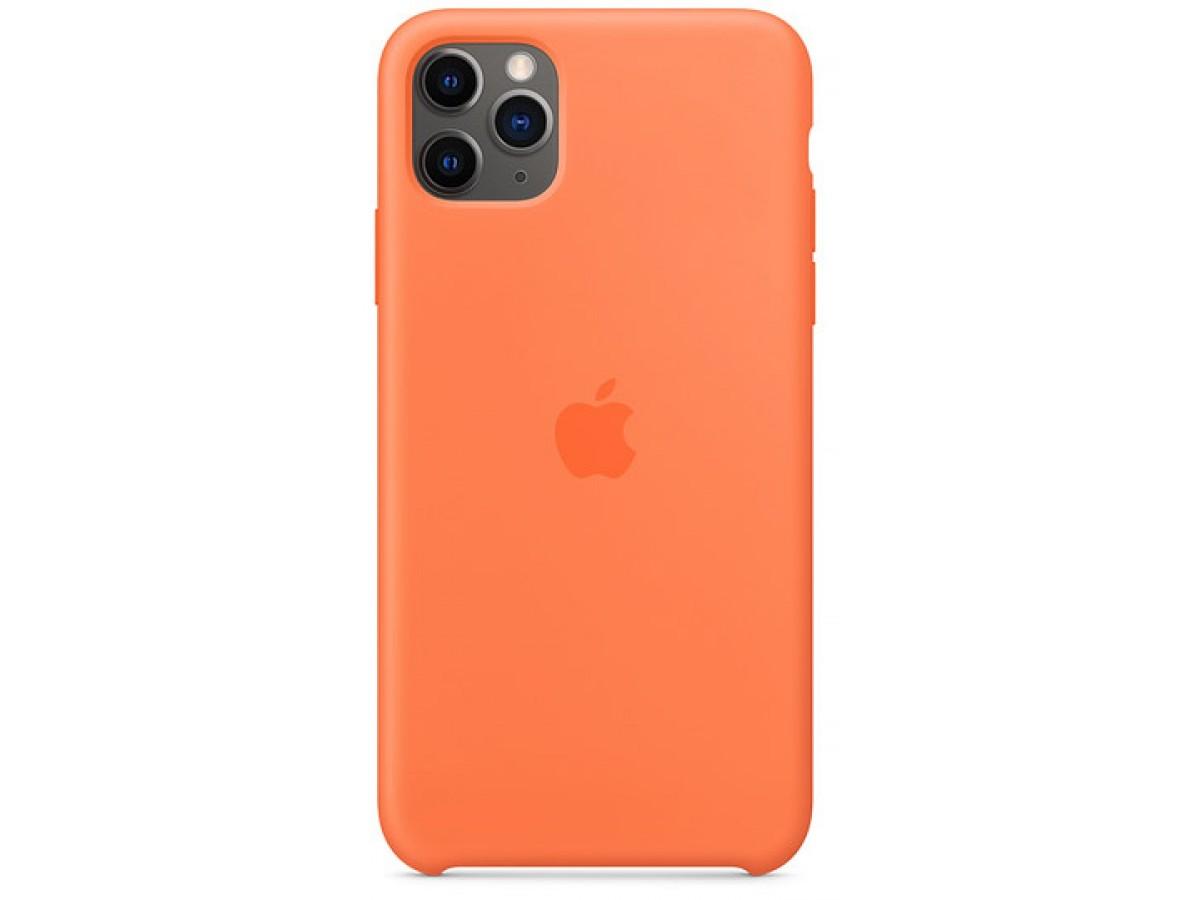 Чехол Silicone Case качество Lux для iPhone 11 Pro оранжевый витамин в Тюмени