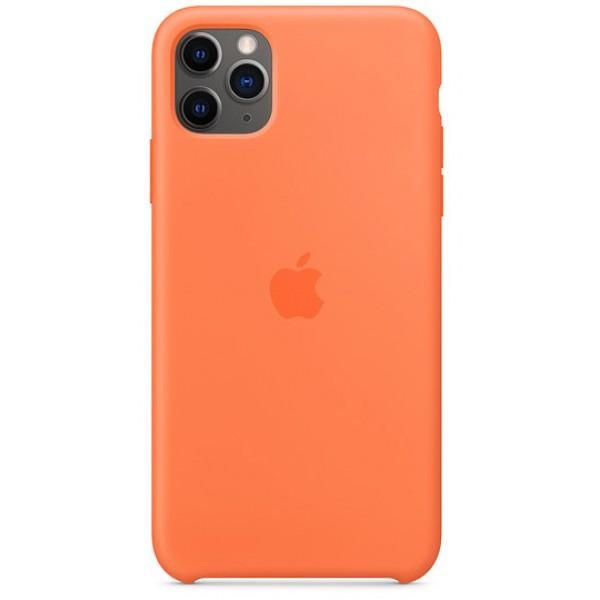 Чехол Silicone Case качество Lux для iPhone 11 Pro оранжевый витамин