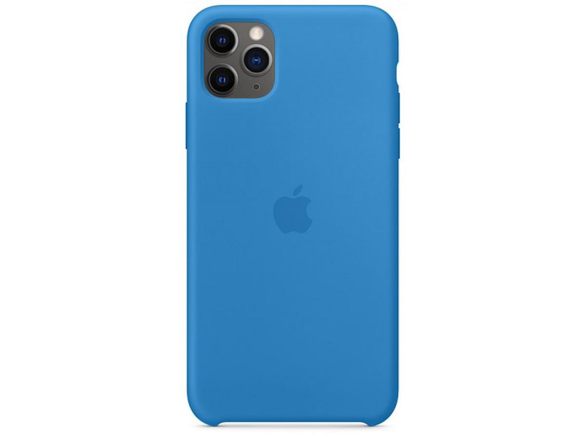 Чехол Silicone Case iPhone 11 Pro max синяя волна в Тюмени
