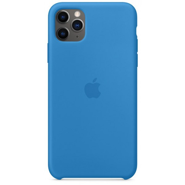 Чехол Silicone Case iPhone 11 Pro max синяя волна