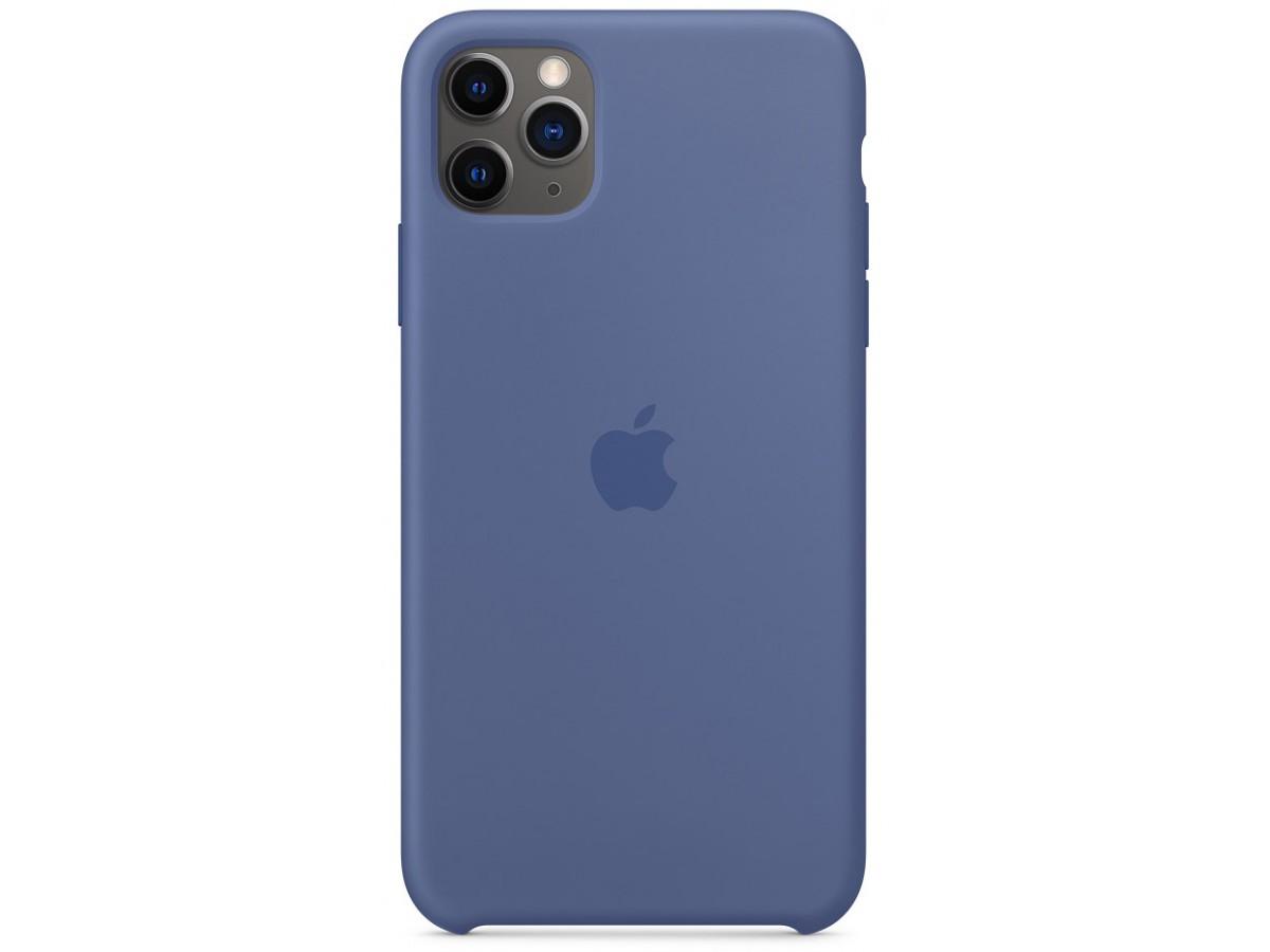 Чехол Silicone Case качество Lux для iPhone 11 Pro Max синий лен в Тюмени