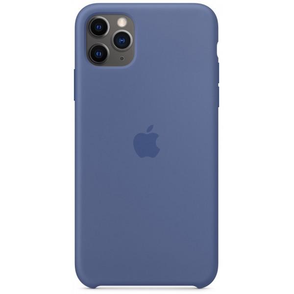 Чехол Silicone Case качество Lux для iPhone 11 Pro Max синий лен