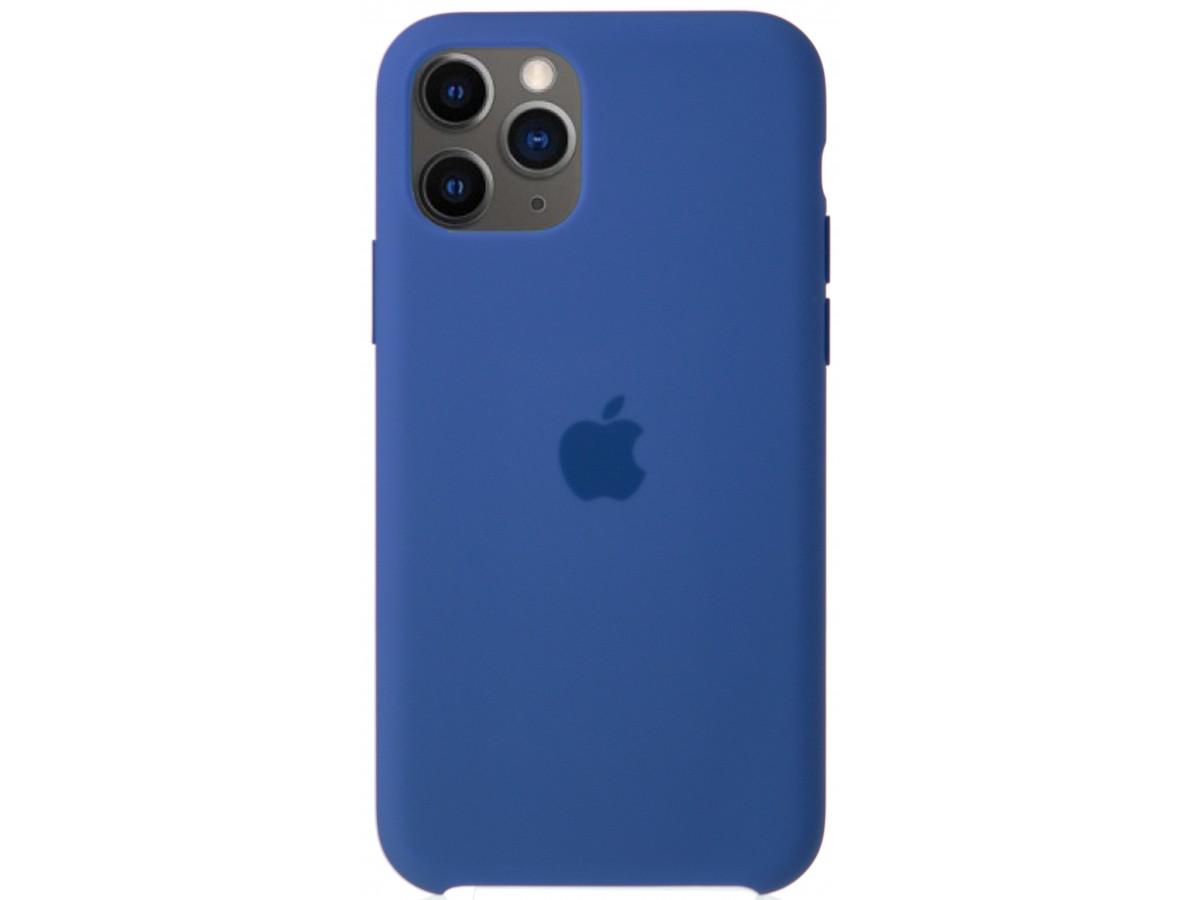 Чехол Silicone Case качество Lux для iPhone 11 Pro синий лён в Тюмени