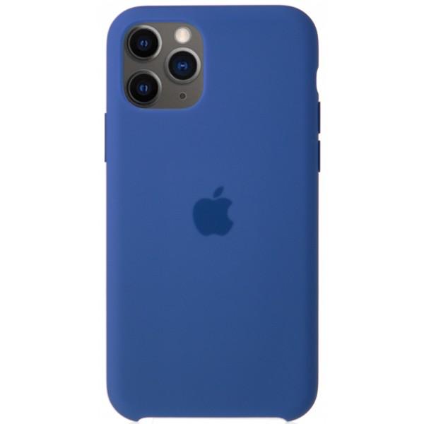 Чехол Silicone Case качество Lux для iPhone 11 Pro синий лён