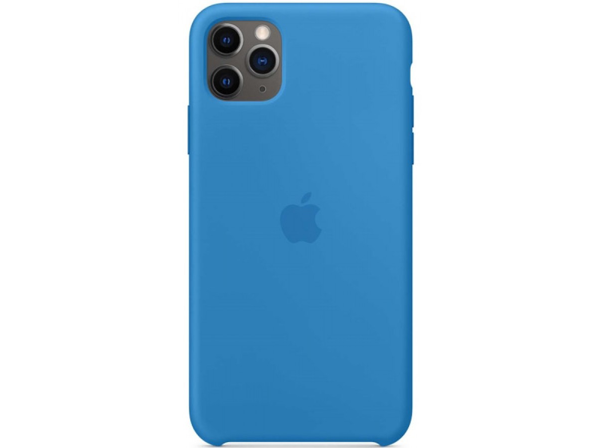 Чехол Silicone Case качество Lux для iPhone 11 Pro синяя волна в Тюмени