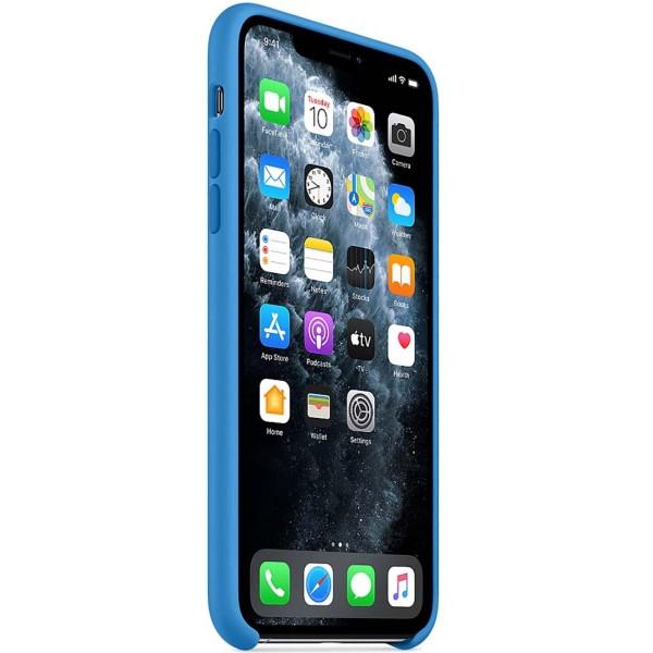 Чехол Silicone Case качество Lux для iPhone 11 Pro синяя волна